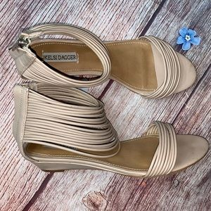 Kelsi Dagger Nude Camellia Strappy Sandals Size 8